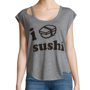 Chaser I Love Sushi Graphic Deconstructed T-Shirt
